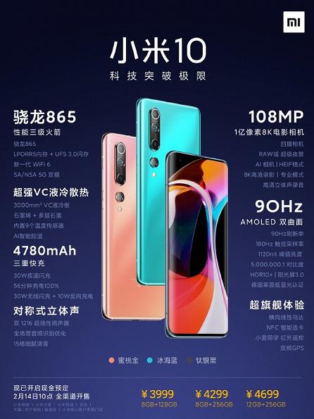 Xiaomi Mi 10 цена